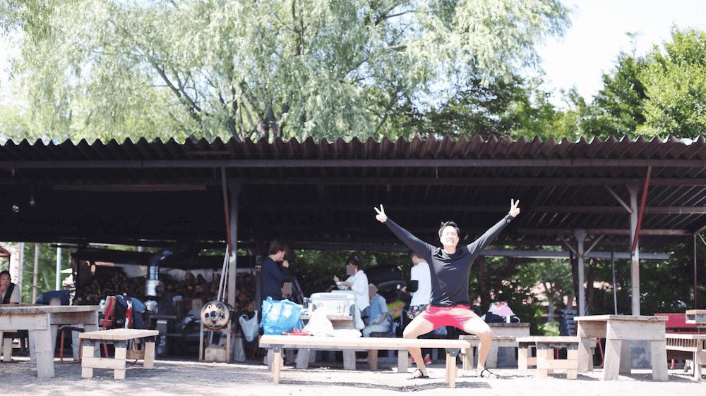 湖明荘マリーナのBBQスペース