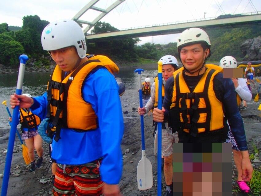 富士川ラフティングの終わり