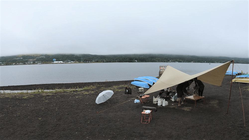 みさきキャンプ場と山中湖