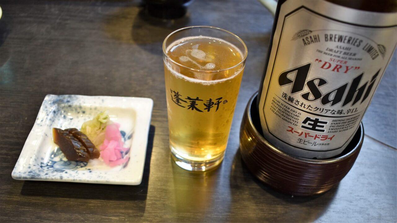 あつた蓬莱軒神宮前店のビール