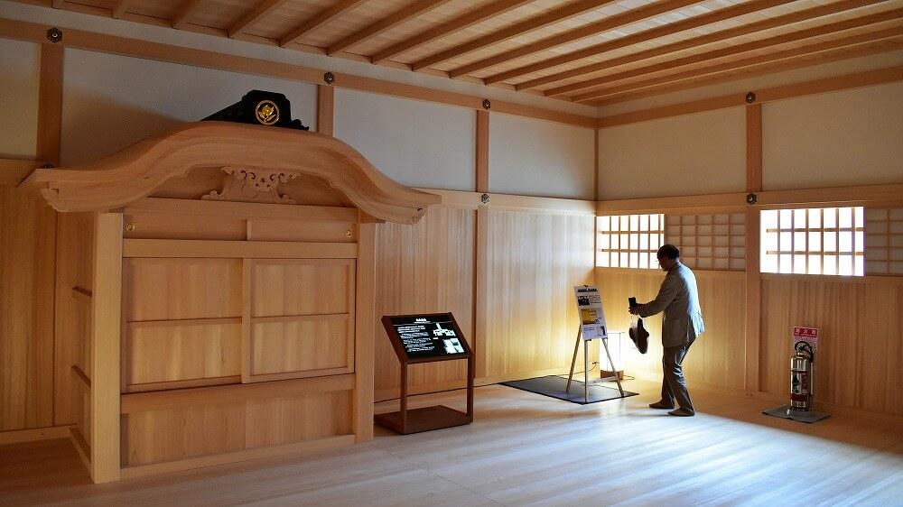 名古屋城本丸御殿湯殿書院のサウナ式蒸し風呂