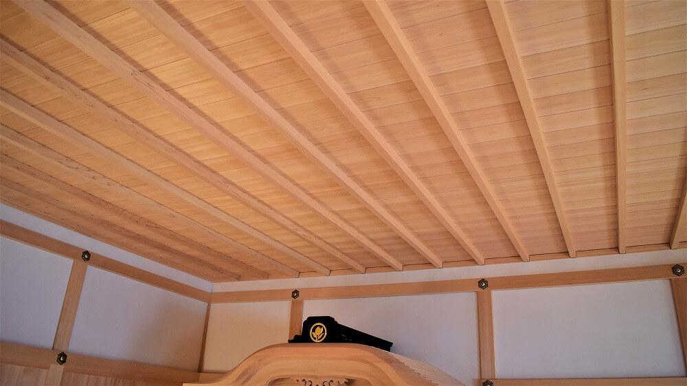 名古屋城本丸御殿湯殿書院の浴室の竿縁天井