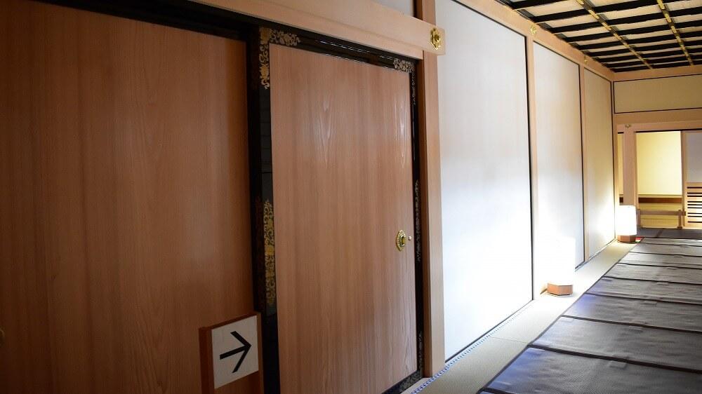 名古屋城本丸御殿湯殿書院から黒木書院へ向かう廊下