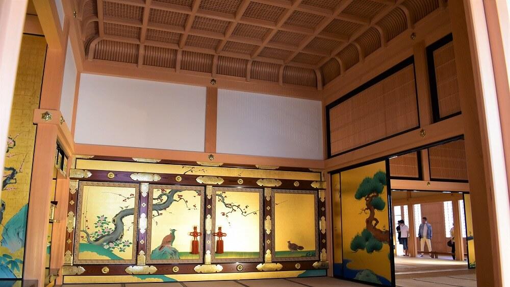 名古屋城本丸御殿表書院上段之間帳台が前