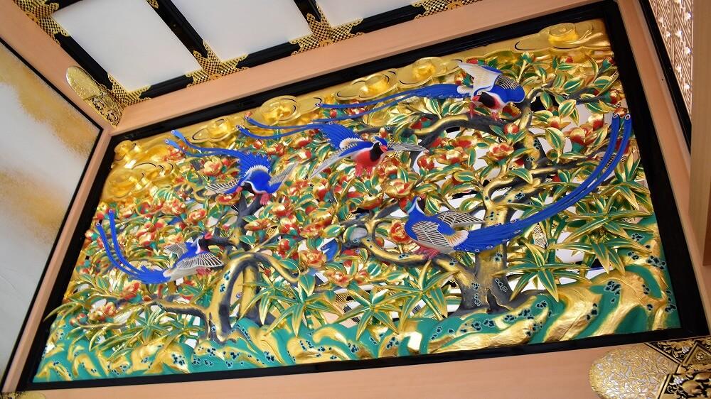 名古屋城本丸御殿上洛殿廊下彫刻欄間