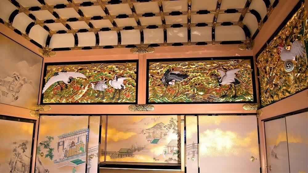上洛殿一之間北側(上段之間側)彫刻欄間