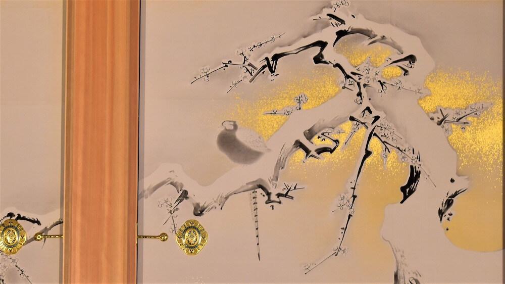狩野探幽・最高傑作:雪中梅竹鳥図