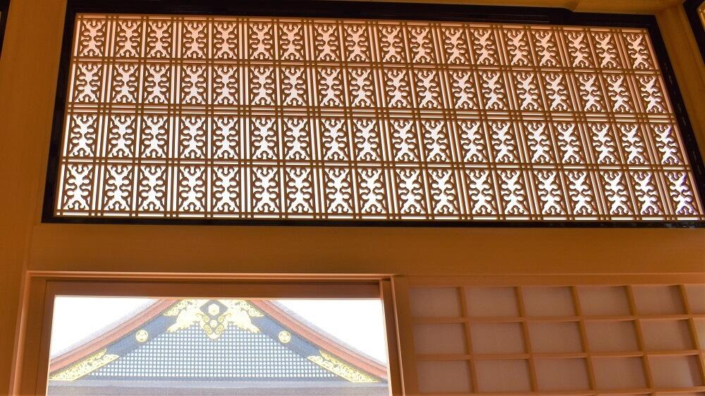 名古屋城上洛殿廊下欄間