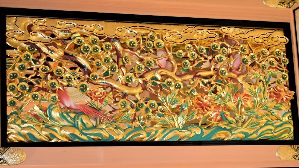 上洛殿三之間西側彫刻欄間