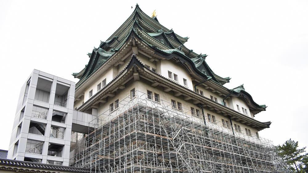 耐震工事中の名古屋城