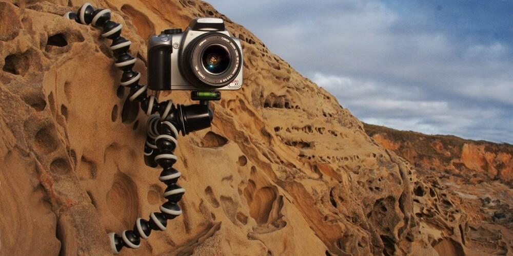 手持ち三脚:JOBY 一眼レフカメラ用フレキシブル三脚 ゴリラポッド