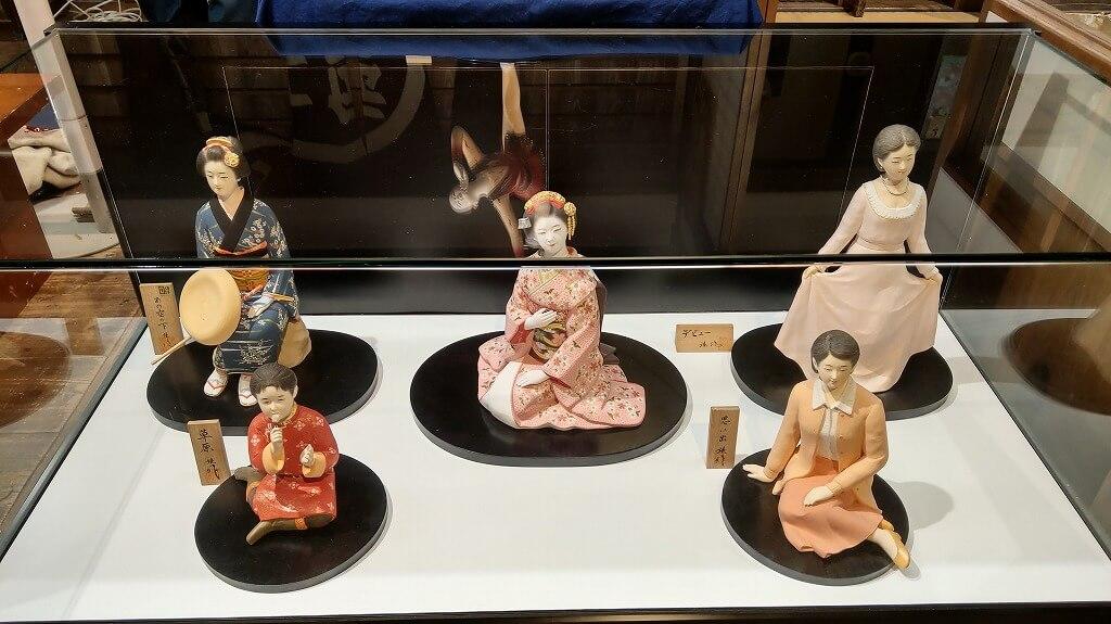 5種類の博多人形