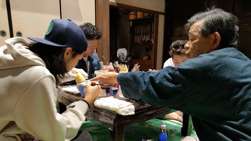 博多人形 工芸士の先生からアドバイス
