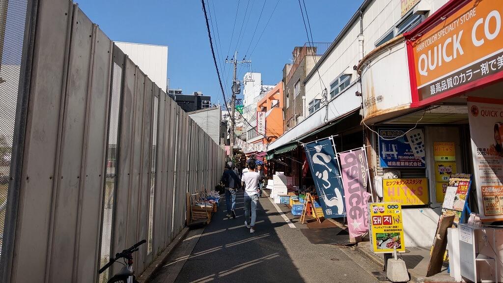 福岡西新の路地裏を散策