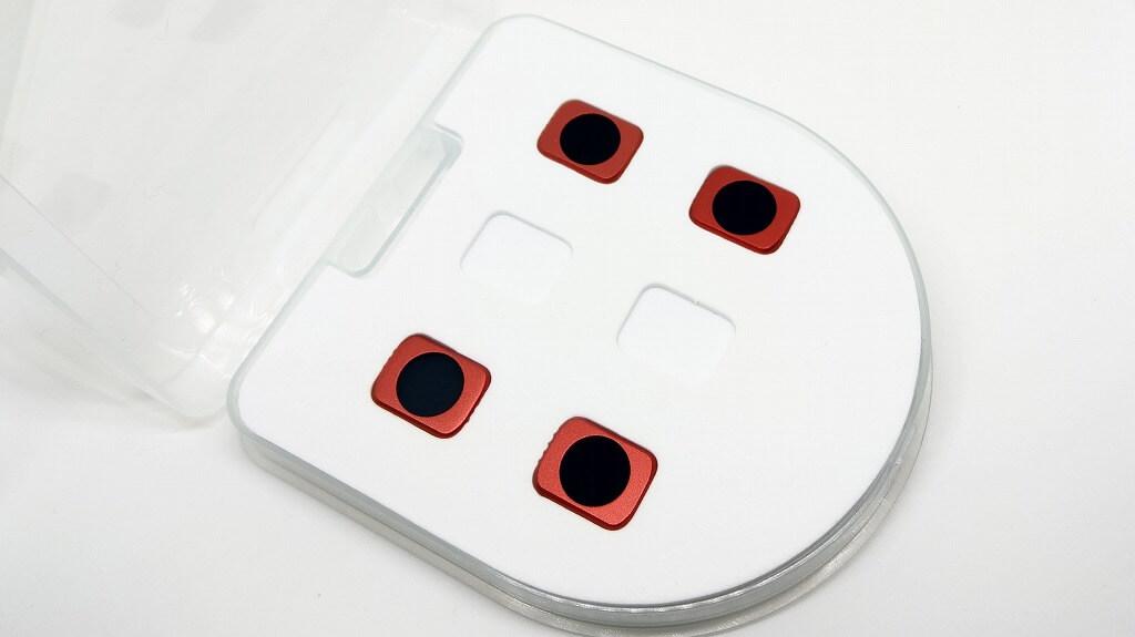 DJI Osmo Pocket用NDフィルター ケースの蓋を開いた
