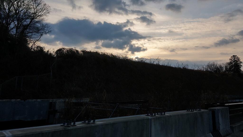 伊豆縦貫道から見る朝日