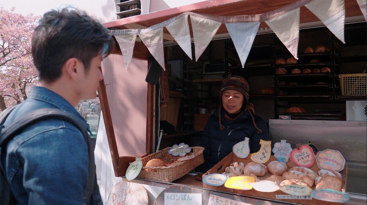 みなみの桜と菜の花まつり パン屋「パンダモンデ」で買い物