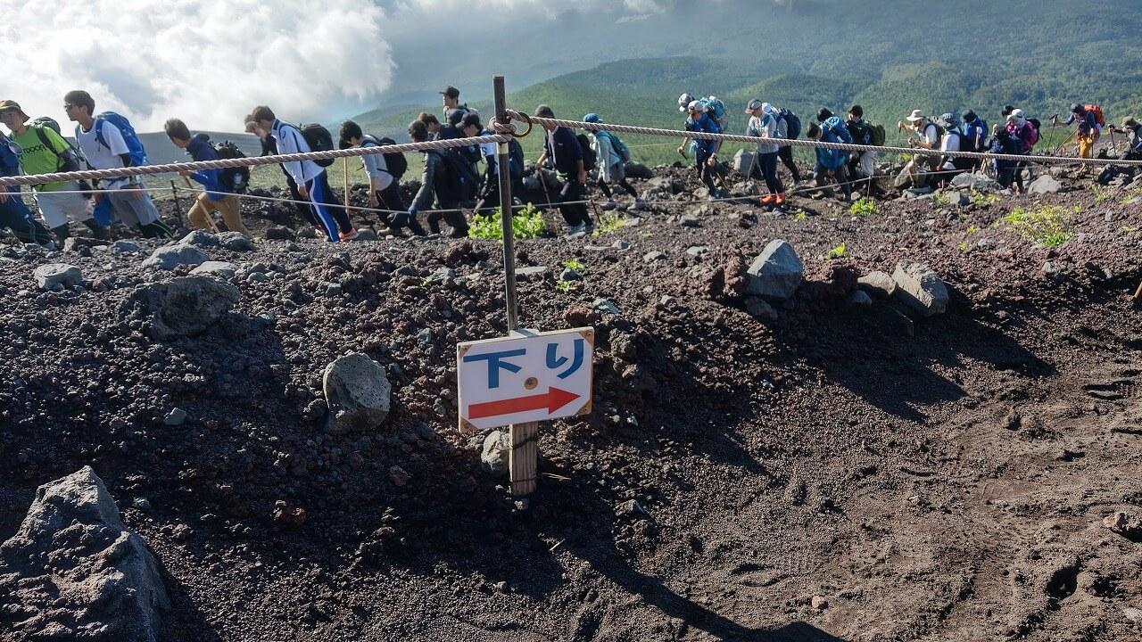 富士登山道富士宮口下山ルート