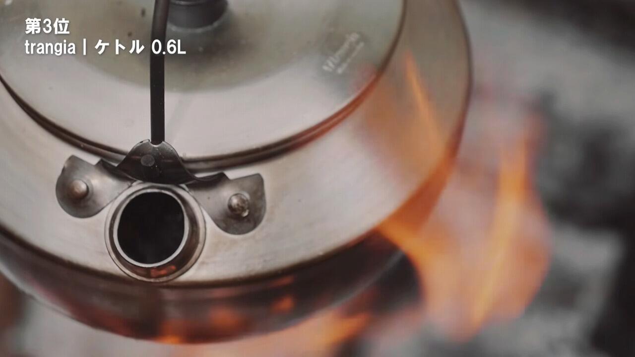 trangia 325ケトル 0.6Lを直火でお湯を沸かす