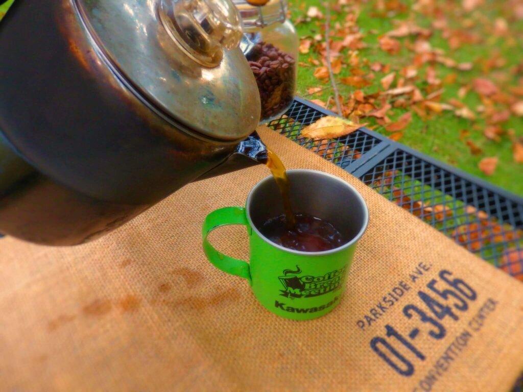 パーコレーター コーヒーを淹れる