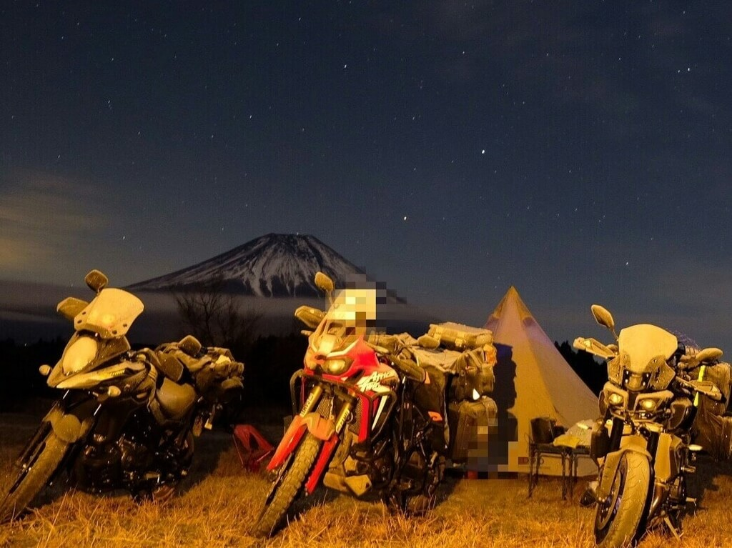 ふもとっぱらキャンプ場 冬のバイクキャンプ