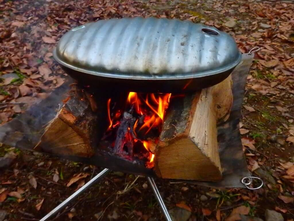 湯たんぽ 直火
