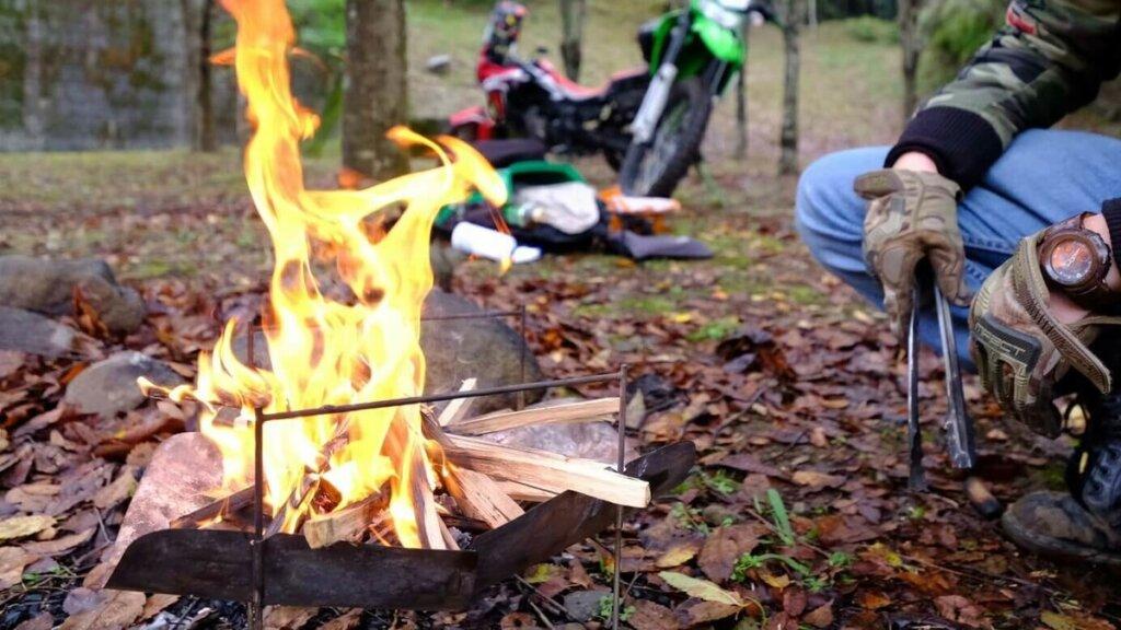 ピコグリルを使って焚き火