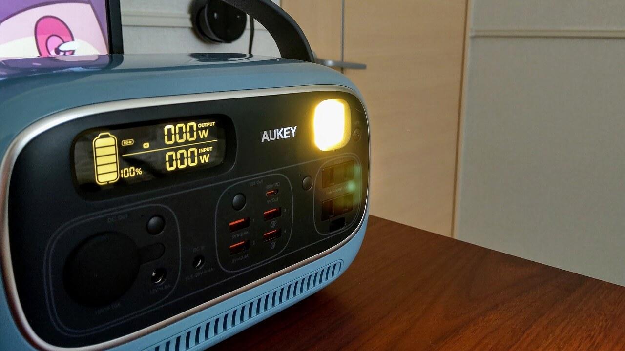 AUKEY PowerStudioのLEDライト