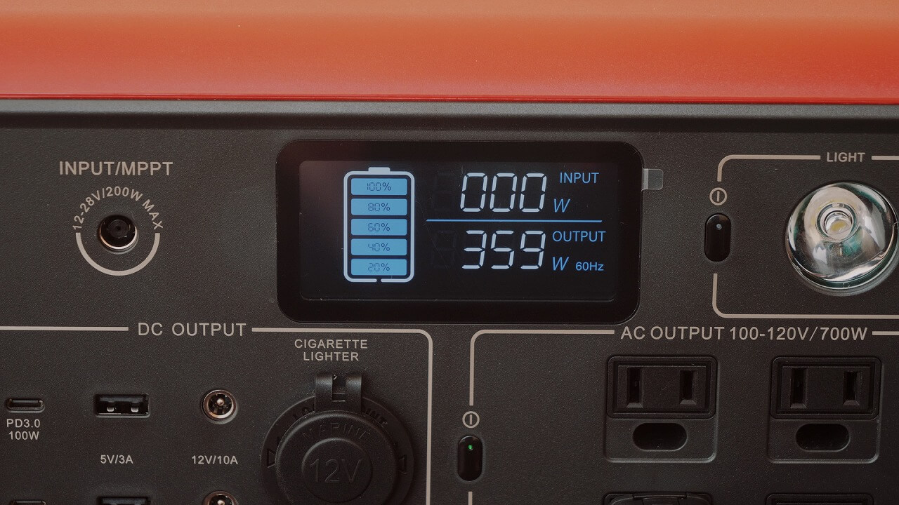BLUTTI EB70 ポータブル電源を使って冬キャンプのテント内でコタツを使用した消費電力