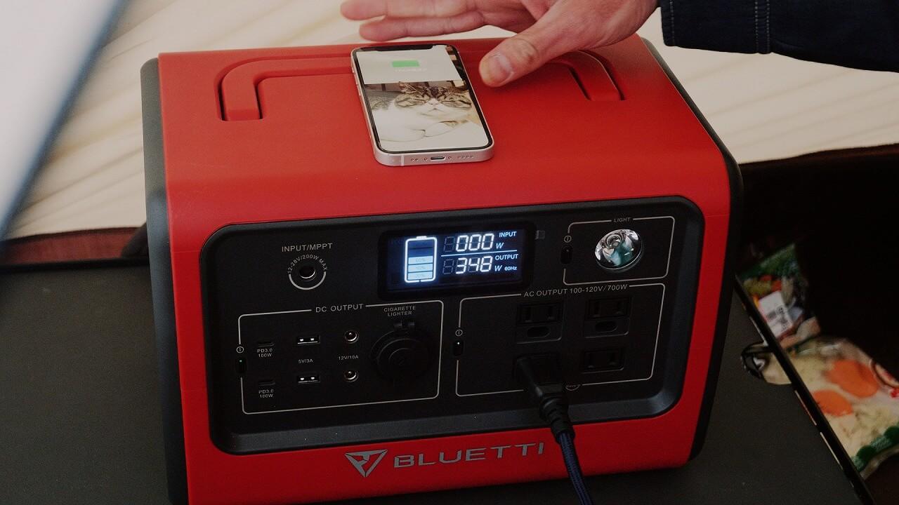BLUTTI EB70 ポータブル電源でiPhoneをMagSafeでワイヤレス充電