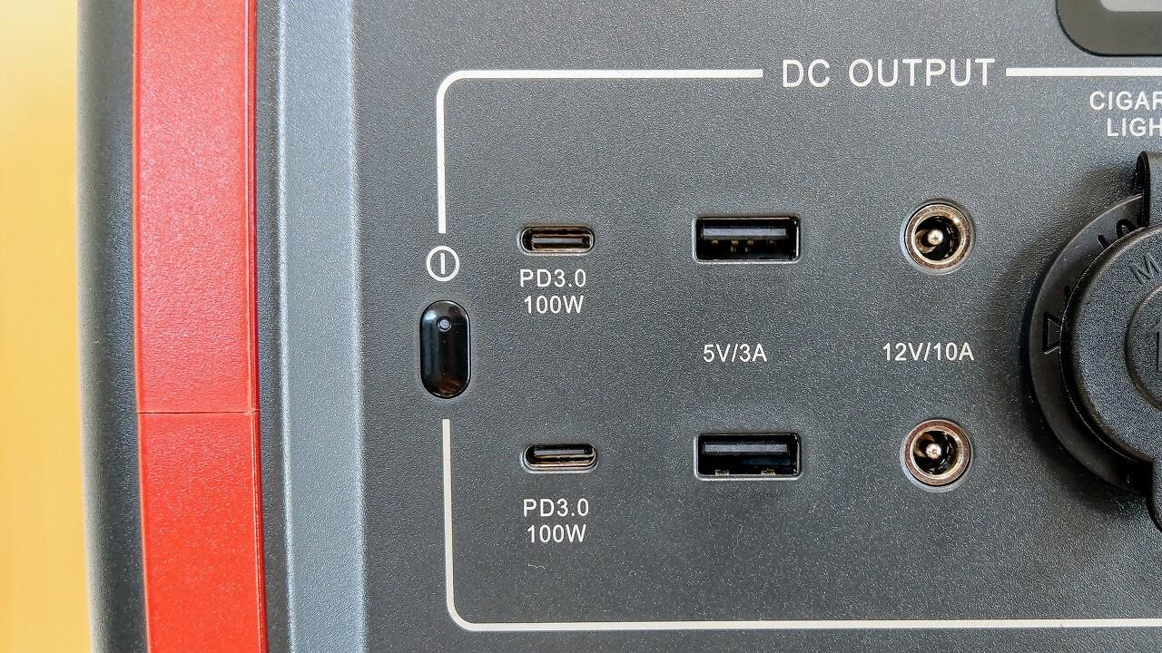 BLUTTI EB70 ポータブル電源 大出力USB PD対応USB-C端子×2