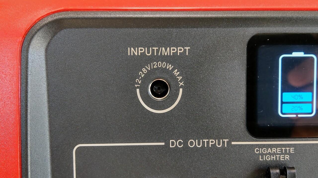 BLUTTI EB70 ポータブル電源 入力端子