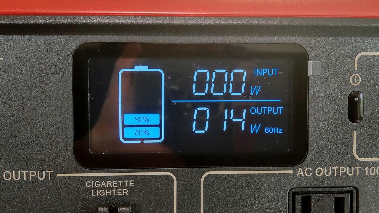 BLUTTI EB70 ポータブル電源 液晶画面