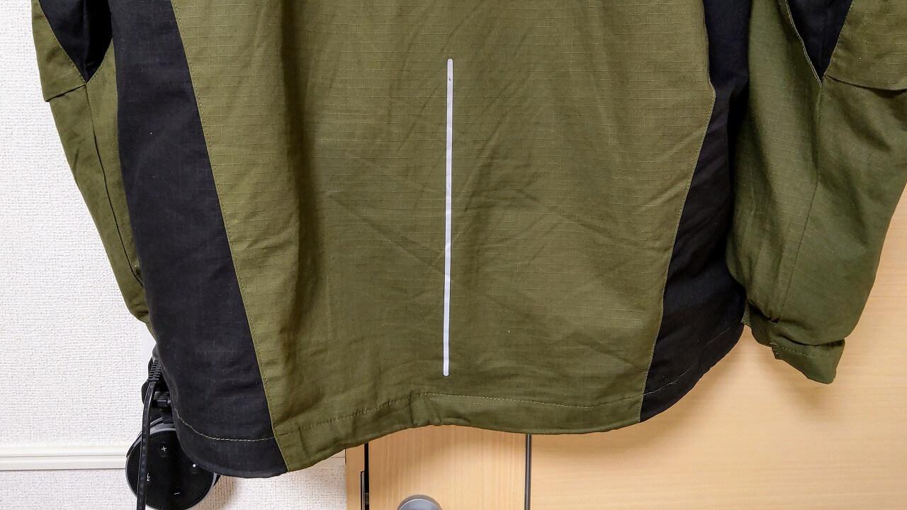 ワークマン DIAMAGIC DIRECT 綿リップ防風防寒2WAYジャケット 背中の反射プリント
