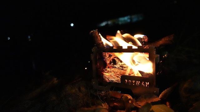 ZOTMAN ミニ焚き火台 Takibi-miniで焚き火
