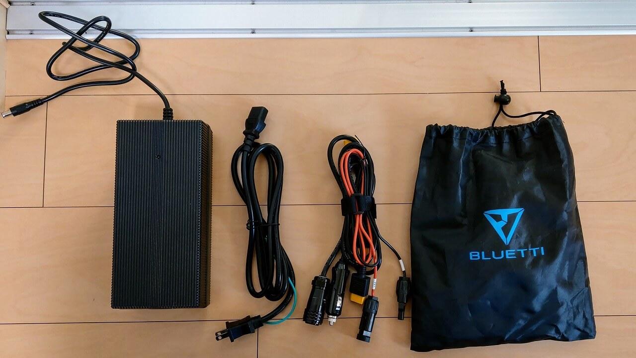 BLUETTI ポータブル電源 AC200Pの付属品