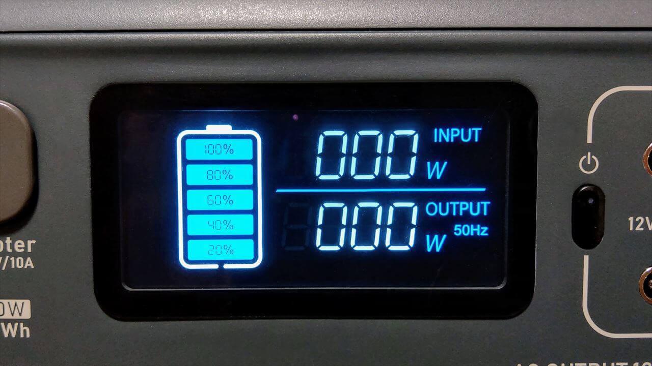 BLUETTI ポータブル電源 EB55 液晶パネル