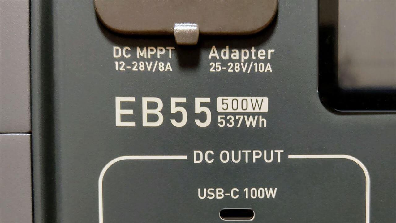 BLUETTI ポータブル電源 EB55 537Wh/500W