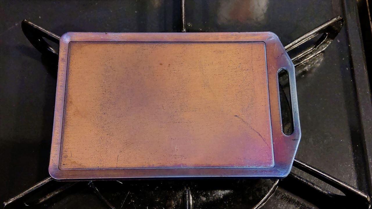 セリア ミニ鉄板 シーズニング・空焼きが終了