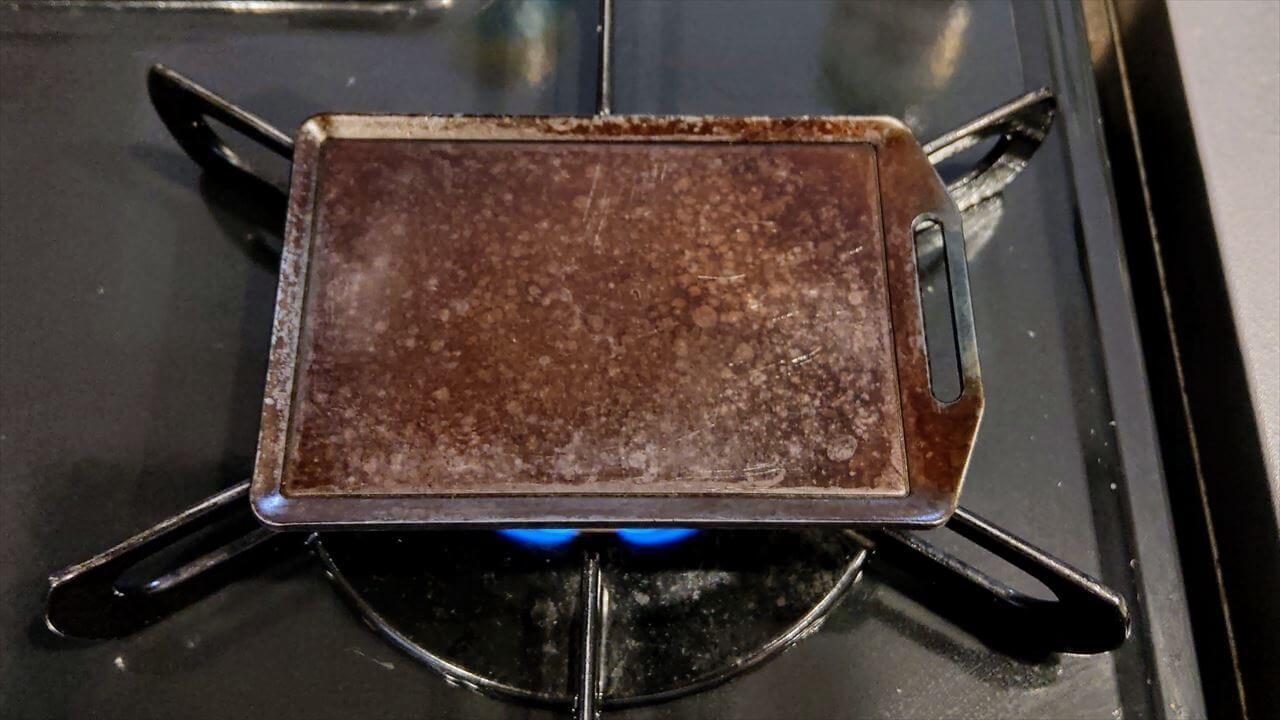 セリア ミニ鉄板 使用後のお手入れ・火にかけて水気を飛ばす