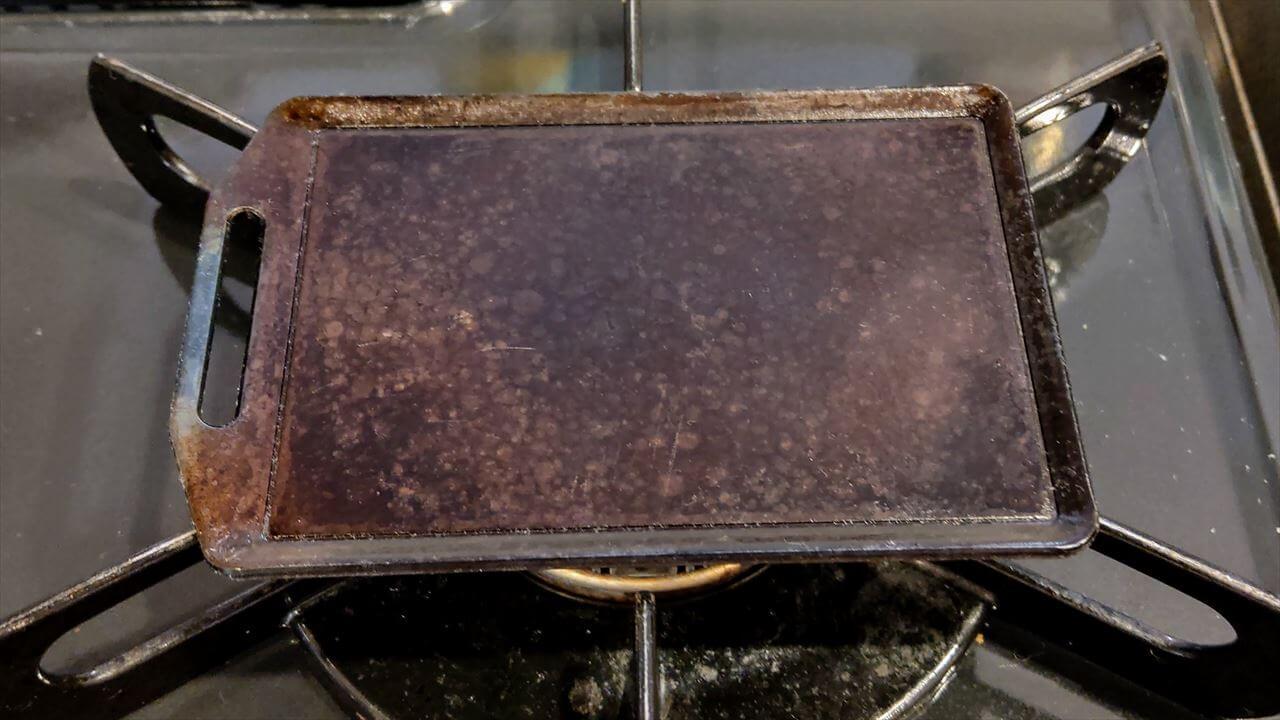セリア ミニ鉄板 使用後のお手入れが終了