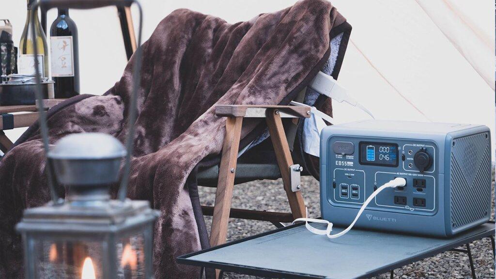 BLUETTI ポータブル電源 EB55で電気毛布を使用BLUETTI ポータブル電源 EB55で電気毛布を使用