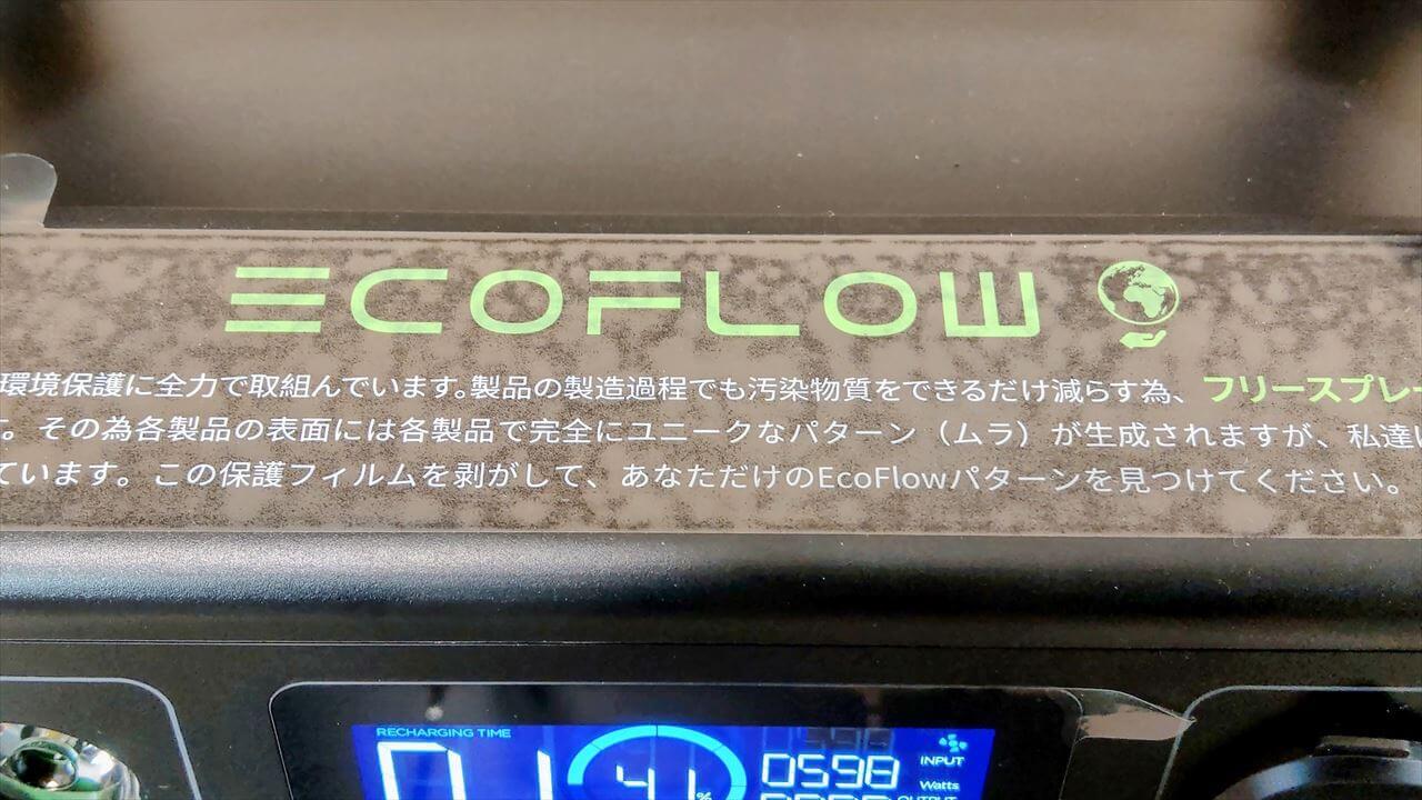 EcoFlow RIVER Pro ポータブル電源 遊び心のある保護フィルム