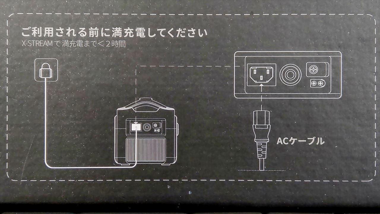 EcoFlow RIVER Pro ポータブル電源はACアダプター無しでケーブルのみでの充電が可能